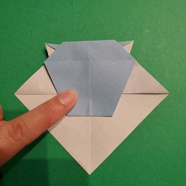 折り紙のポケモン カメックスの折り方作り方(31)