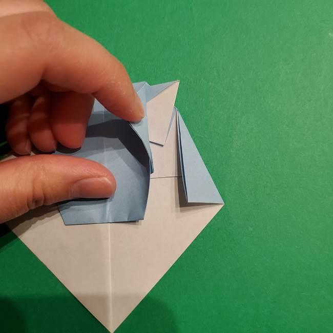 折り紙のポケモン カメックスの折り方作り方(32)