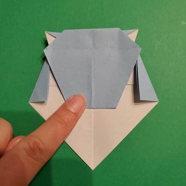 折り紙のポケモン カメックスの折り方作り方(33)