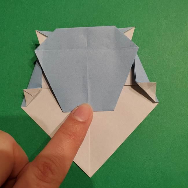 折り紙のポケモン カメックスの折り方作り方(34)