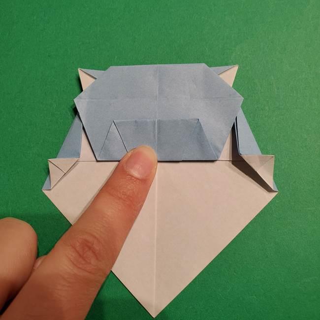 折り紙のポケモン カメックスの折り方作り方(35)