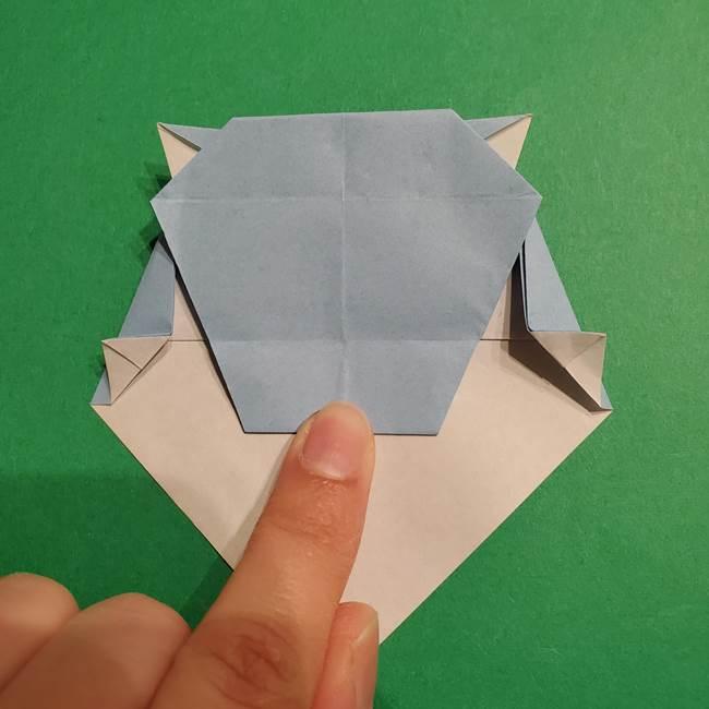 折り紙のポケモン カメックスの折り方作り方(36)