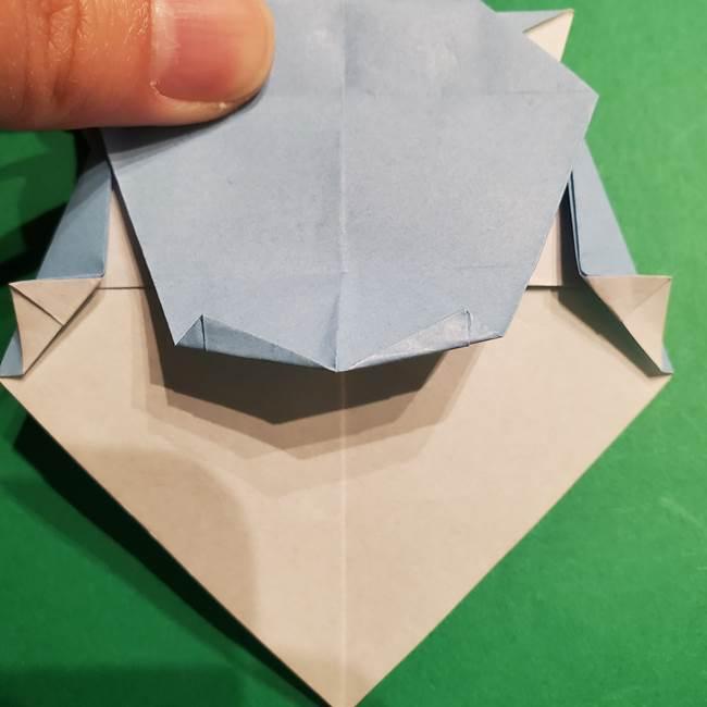 折り紙のポケモン カメックスの折り方作り方(37)
