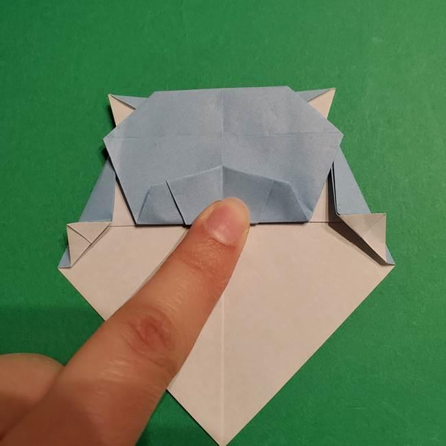 折り紙のポケモン カメックスの折り方作り方(38)