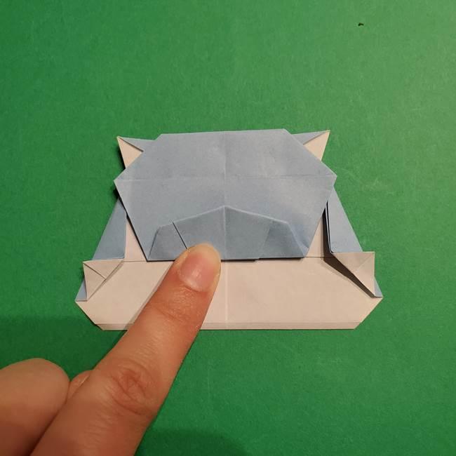 折り紙のポケモン カメックスの折り方作り方(41)