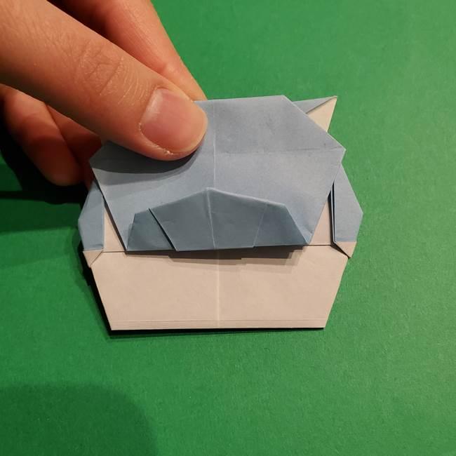 折り紙のポケモン カメックスの折り方作り方(42)
