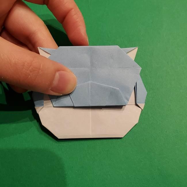 折り紙のポケモン カメックスの折り方作り方(43)