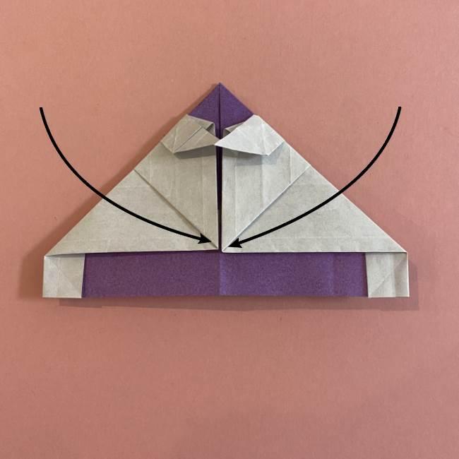 折り紙の兜(かぶと) 中級者向けの折り方作り方 (24)