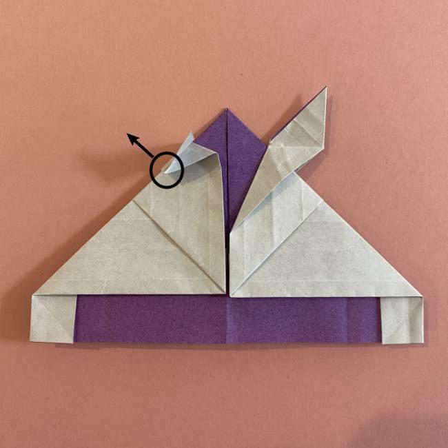 折り紙の兜(かぶと) 中級者向けの折り方作り方 (25)