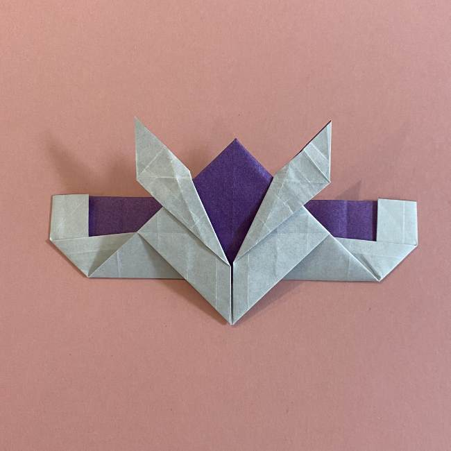 折り紙の兜(かぶと) 中級者向けの折り方作り方 (28)