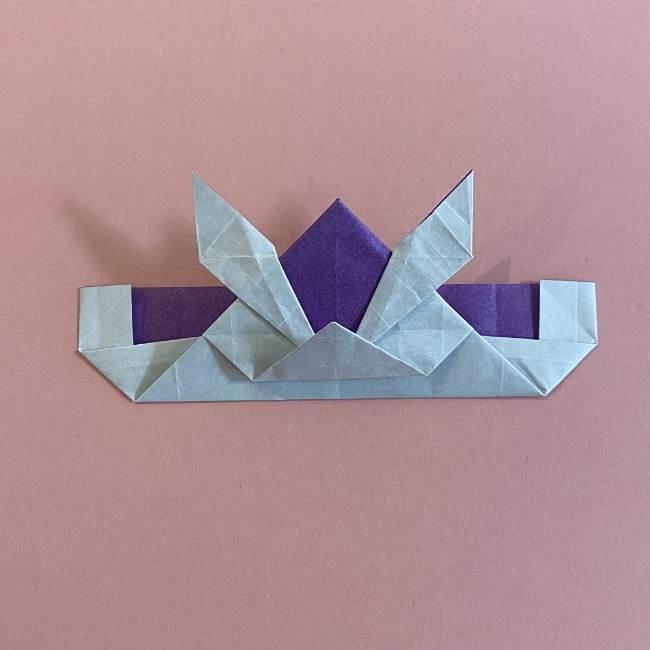 折り紙の兜(かぶと) 中級者向けの折り方作り方 (29)