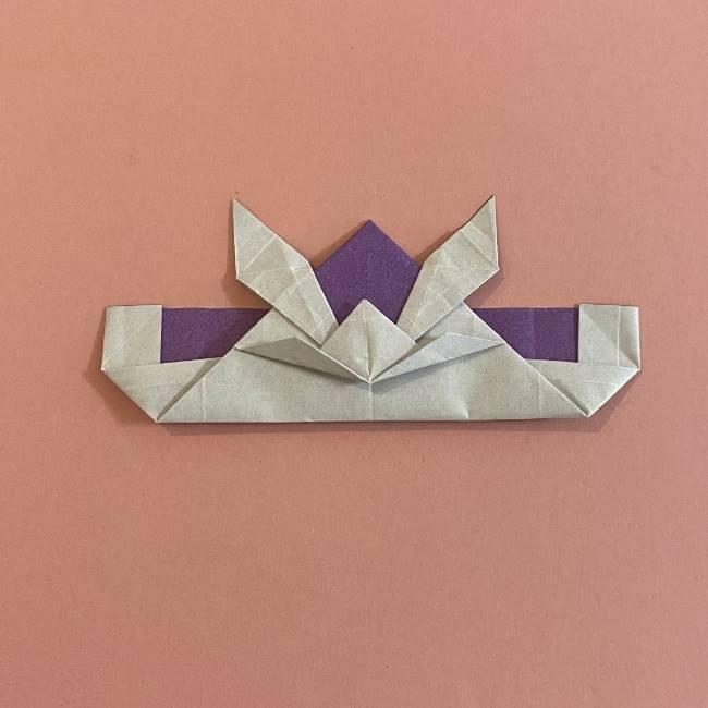折り紙の兜(かぶと) 中級者向けの折り方作り方 (30)