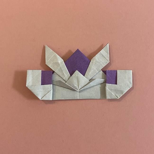 折り紙の兜(かぶと) 中級者向けの折り方作り方 (32)