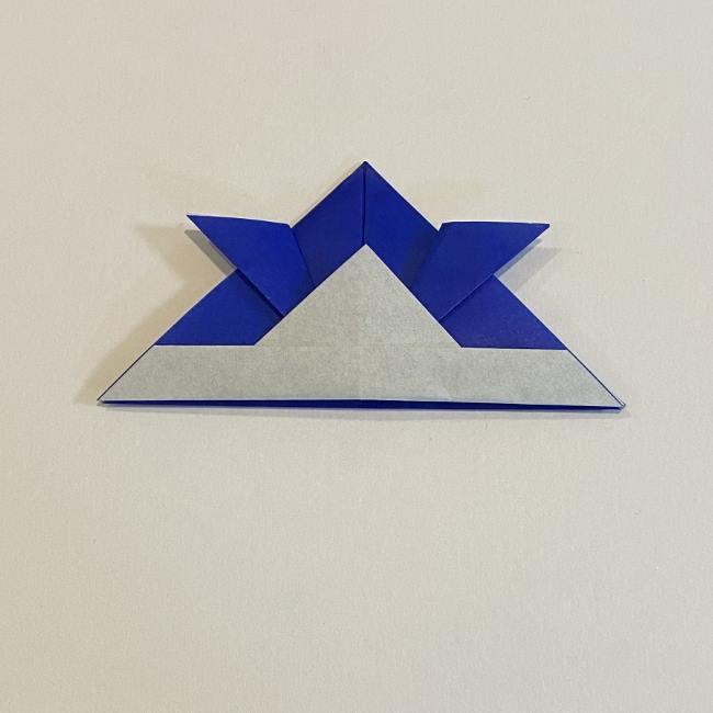 折り紙の兜の折り方を教えてほしい方へ☆基本のかぶる帽子のようなかぶとの作り方