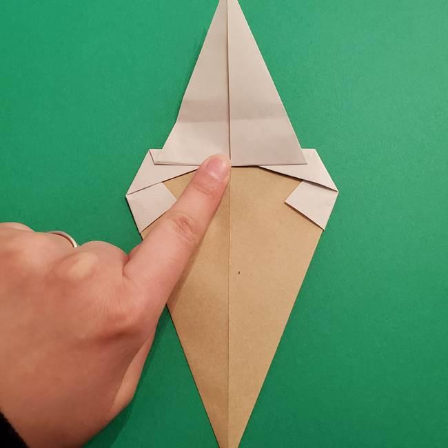 折り紙 ソフトクリーム&コーンの簡単な折り方(10)