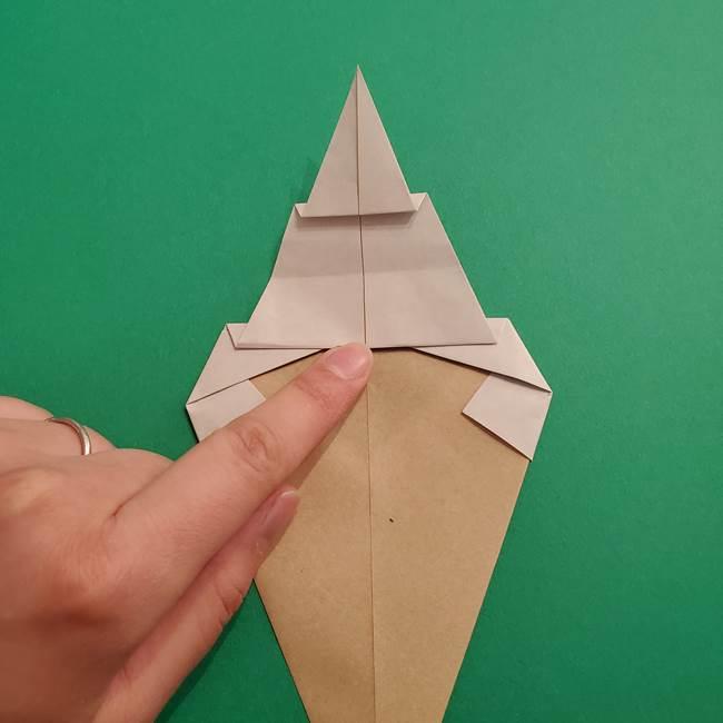 折り紙 ソフトクリーム&コーンの簡単な折り方(11)