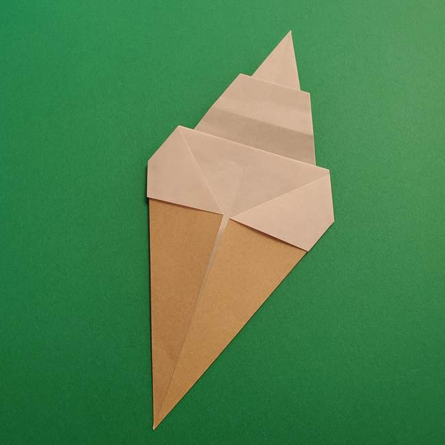 折り紙 ソフトクリーム&コーンの簡単な折り方(12)