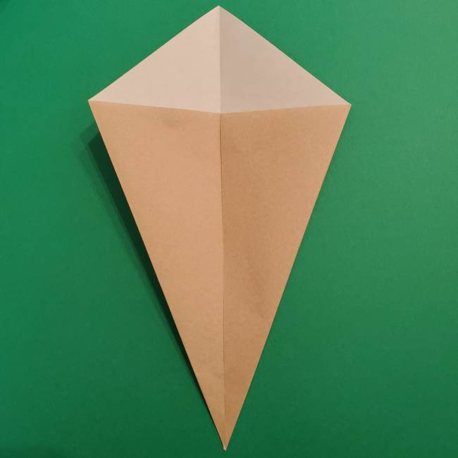 折り紙 ソフトクリーム&コーンの簡単な折り方(4)