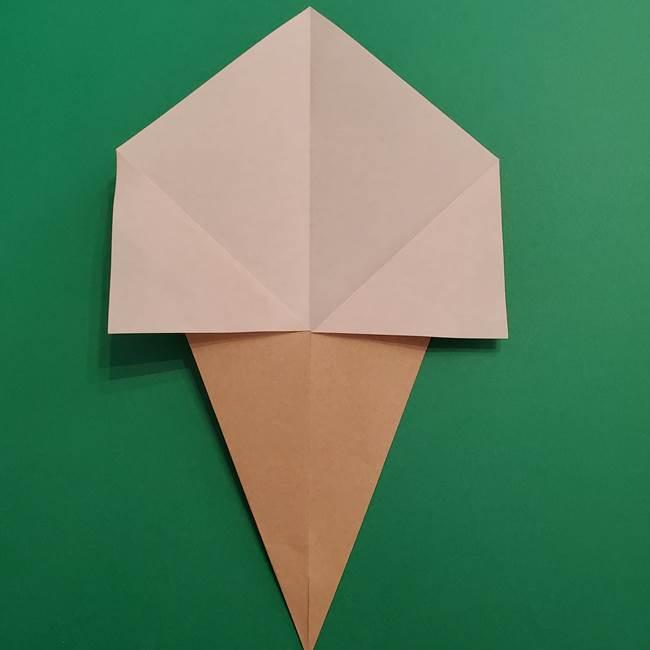 折り紙 ソフトクリーム&コーンの簡単な折り方(5)