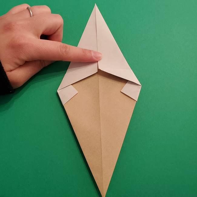 折り紙 ソフトクリーム&コーンの簡単な折り方(8)