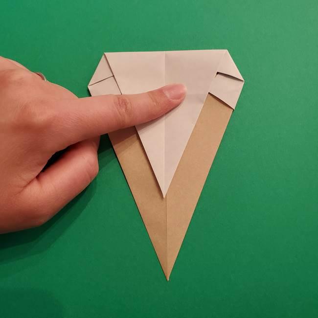 折り紙 ソフトクリーム&コーンの簡単な折り方(9)