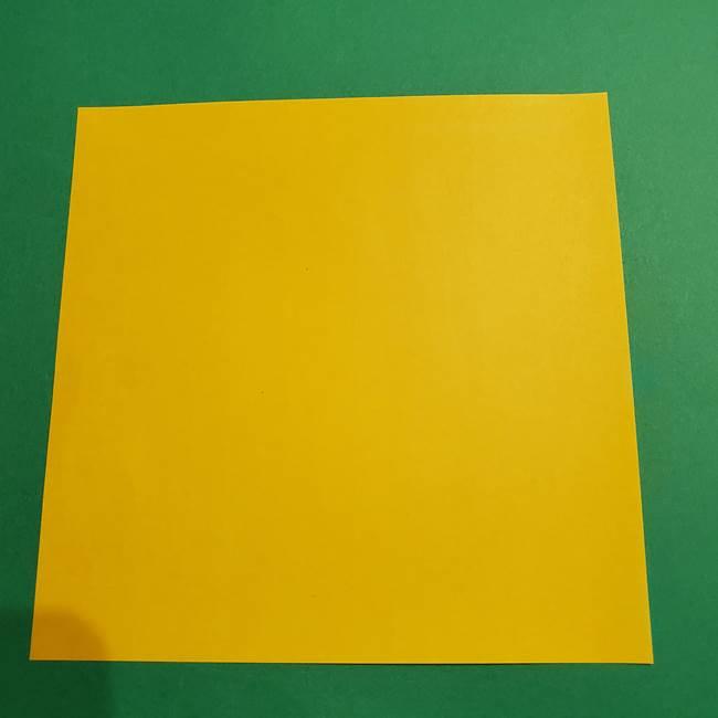 折り紙 ミニオンの立体的な箱*折り方作り方(1)
