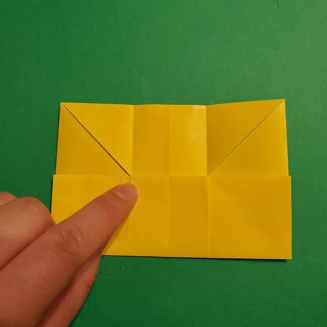 折り紙 ミニオンの立体的な箱*折り方作り方(10)