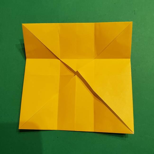 折り紙 ミニオンの立体的な箱*折り方作り方(11)