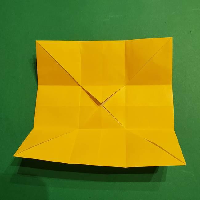 折り紙 ミニオンの立体的な箱*折り方作り方(13)