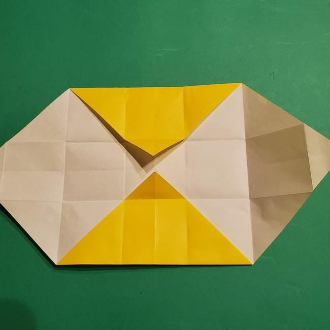 折り紙 ミニオンの立体的な箱*折り方作り方(14)