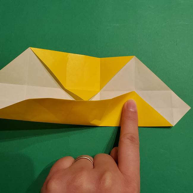 折り紙 ミニオンの立体的な箱*折り方作り方(15)