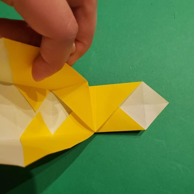 折り紙 ミニオンの立体的な箱*折り方作り方(17)
