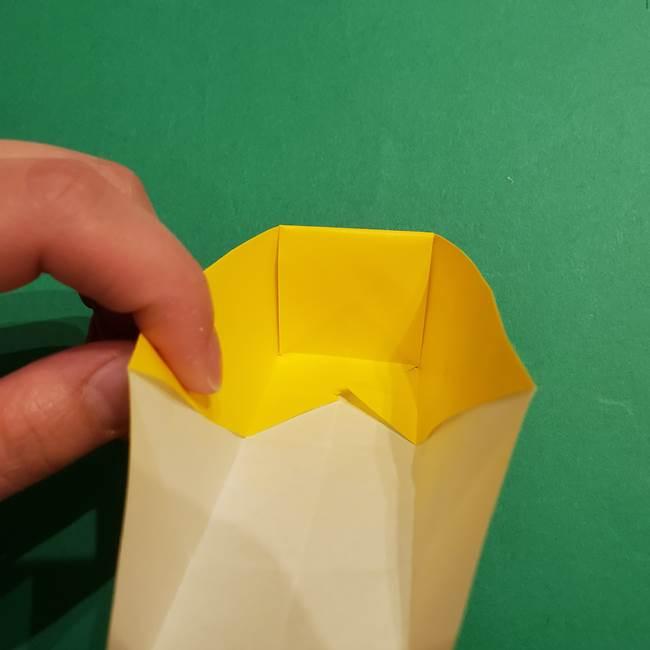 折り紙 ミニオンの立体的な箱*折り方作り方(18)