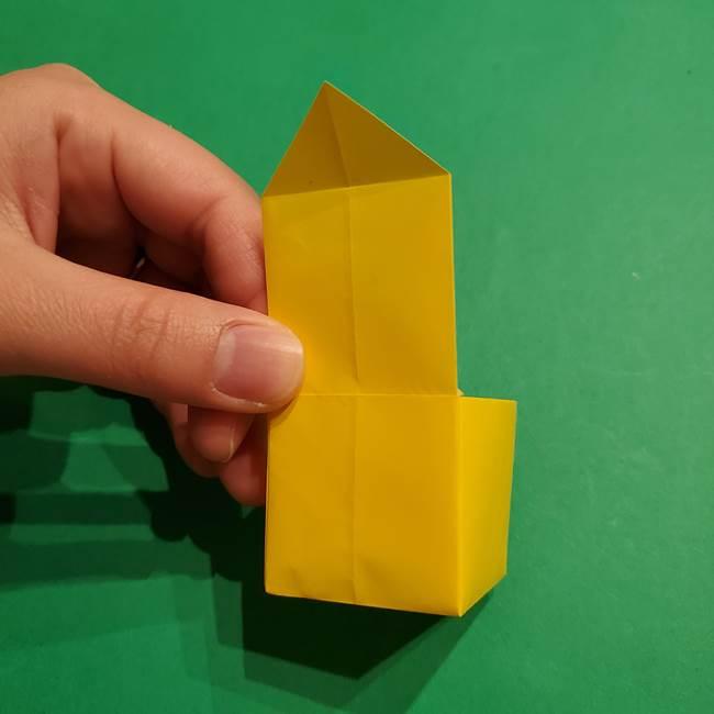 折り紙 ミニオンの立体的な箱*折り方作り方(19)