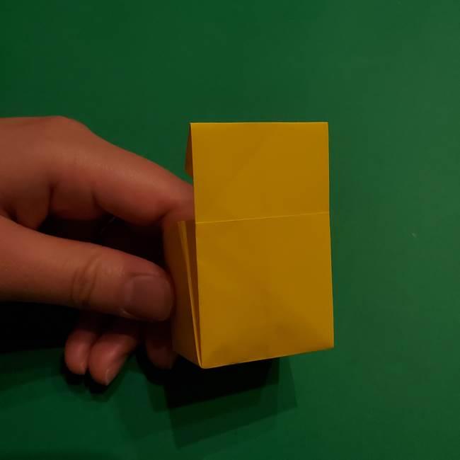 折り紙 ミニオンの立体的な箱*折り方作り方(20)