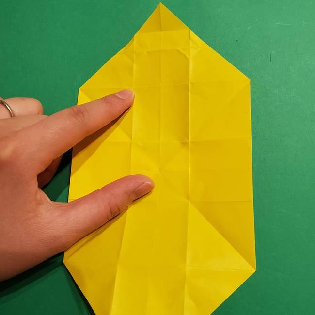 折り紙 ミニオンの立体的な箱*折り方作り方(22)
