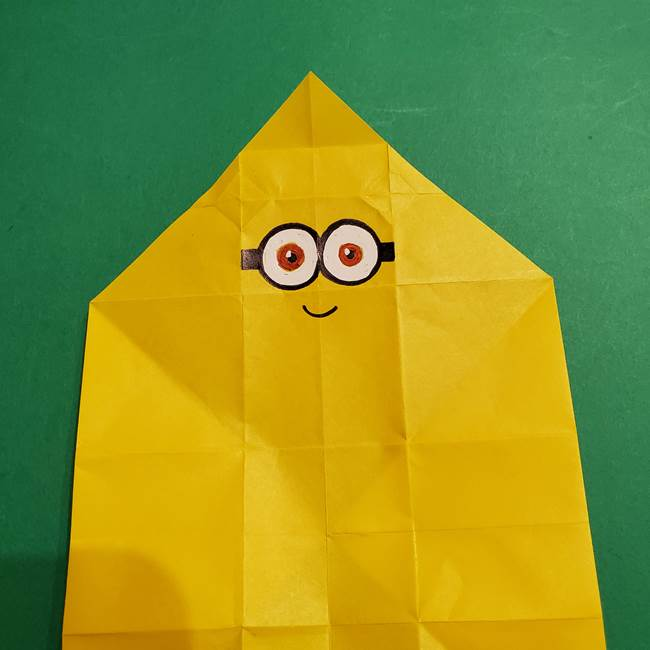 折り紙 ミニオンの立体的な箱*折り方作り方(23)
