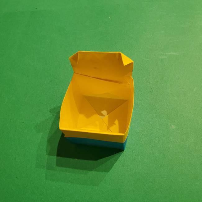折り紙 ミニオンの立体的な箱*折り方作り方(30)