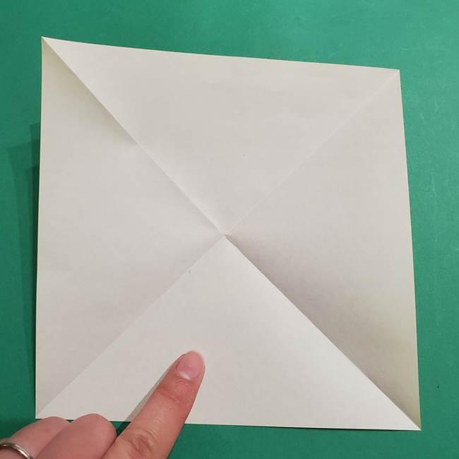 折り紙 ミニオンの立体的な箱*折り方作り方(4)
