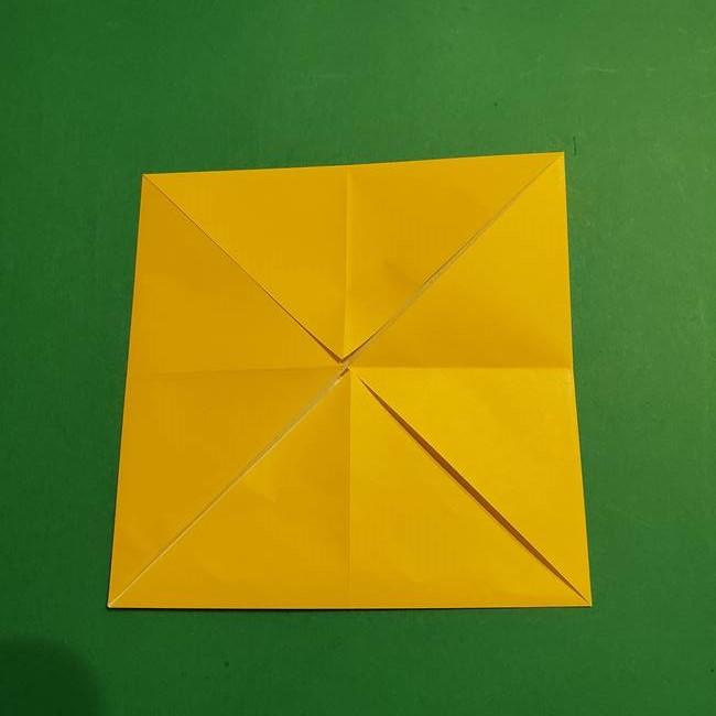 折り紙 ミニオンの立体的な箱*折り方作り方(5)