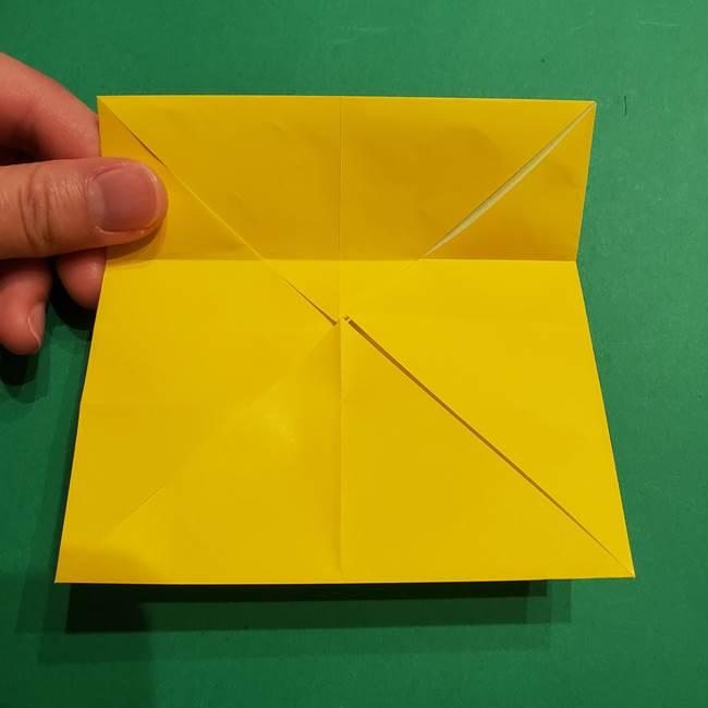 折り紙 ミニオンの立体的な箱*折り方作り方(7)