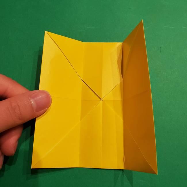 折り紙 ミニオンの立体的な箱*折り方作り方(9)