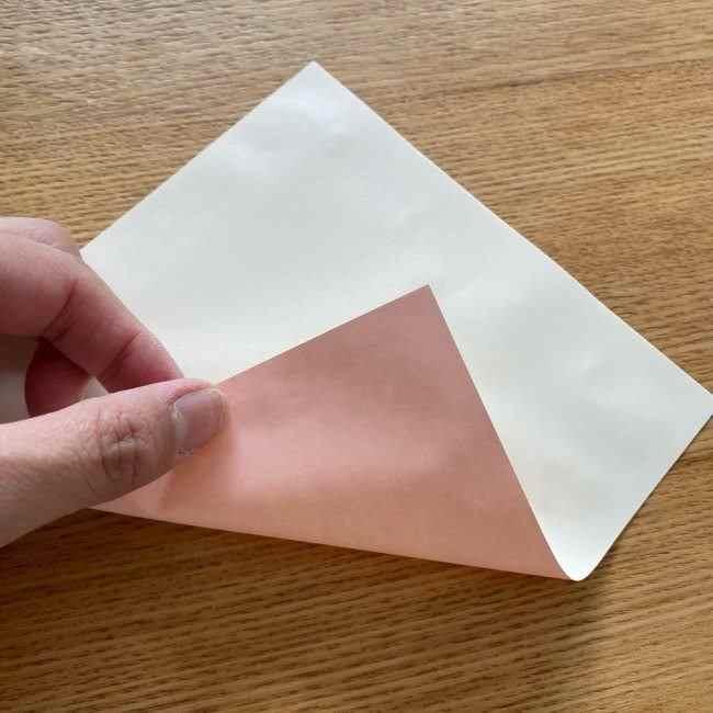 桜の折り紙 メッセージカードの折り方作り方 (1)