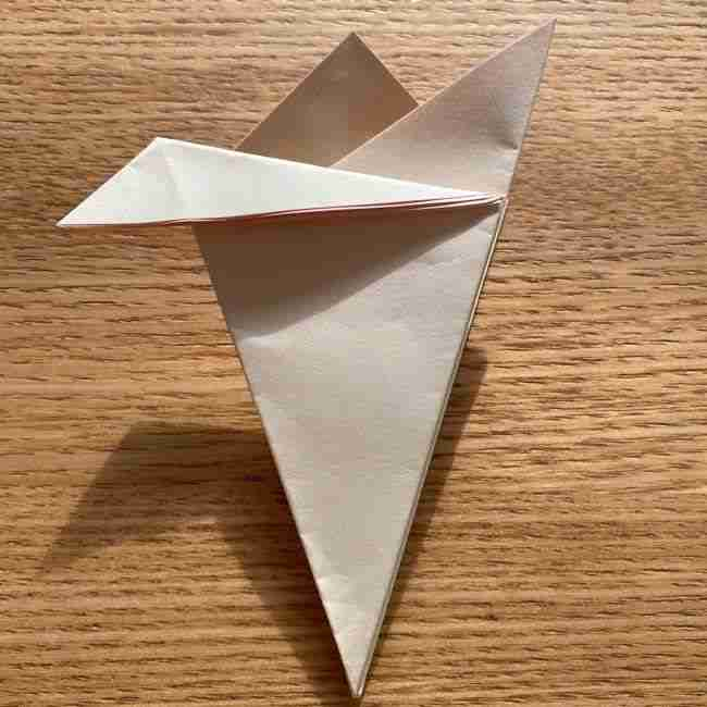 桜の折り紙 メッセージカードの折り方作り方 (15)
