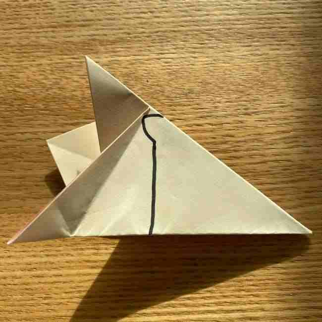 桜の折り紙 メッセージカードの折り方作り方 (17)
