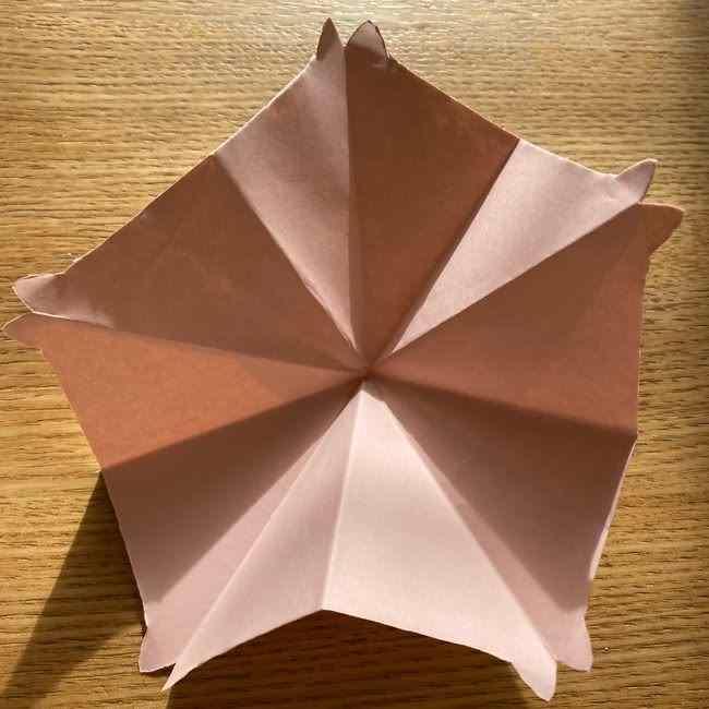 桜の折り紙 メッセージカードの折り方作り方 (19)