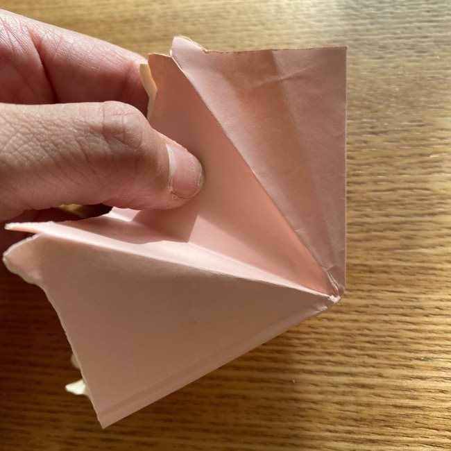 桜の折り紙 メッセージカードの折り方作り方 (22)