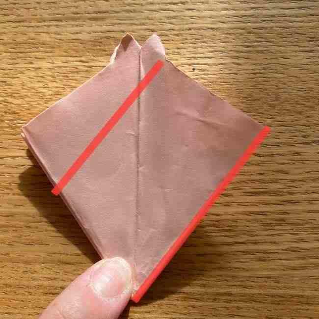 桜の折り紙 メッセージカードの折り方作り方 (25)
