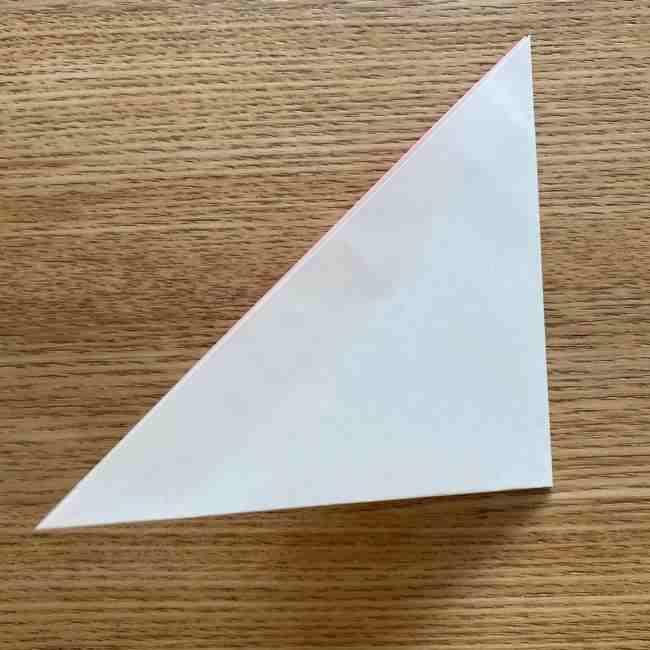 桜の折り紙 メッセージカードの折り方作り方 (3)