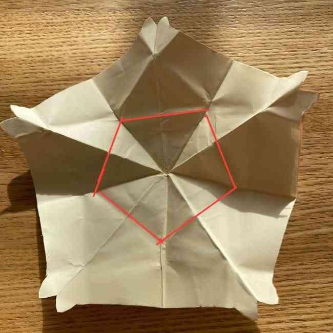桜の折り紙 メッセージカードの折り方作り方 (32)